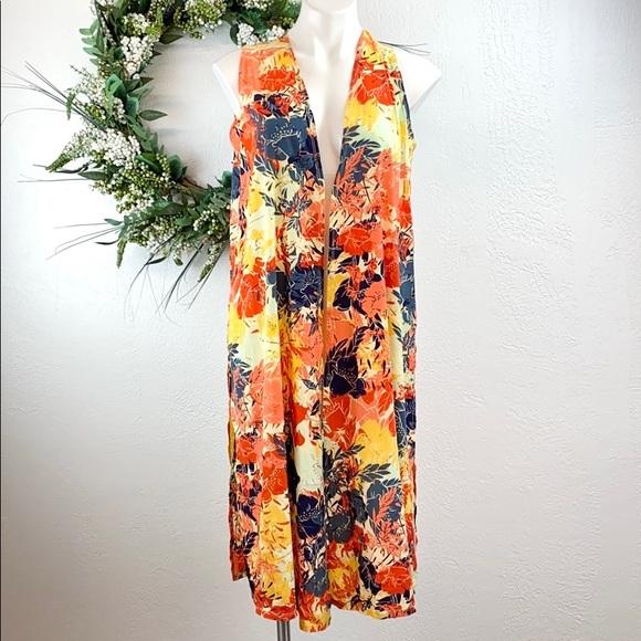💐BoGo Lularoe Floral Print Open Long vest duster